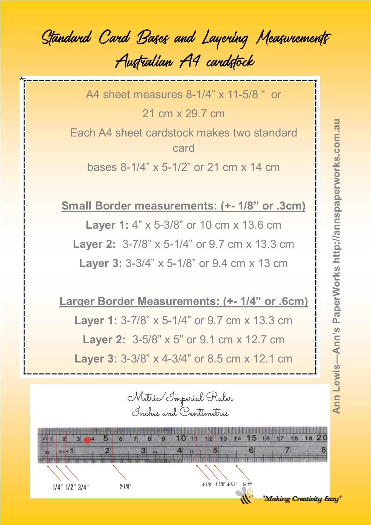 Standard card sizes and measurement guide for a4 handmade cards kristyandbryce Images